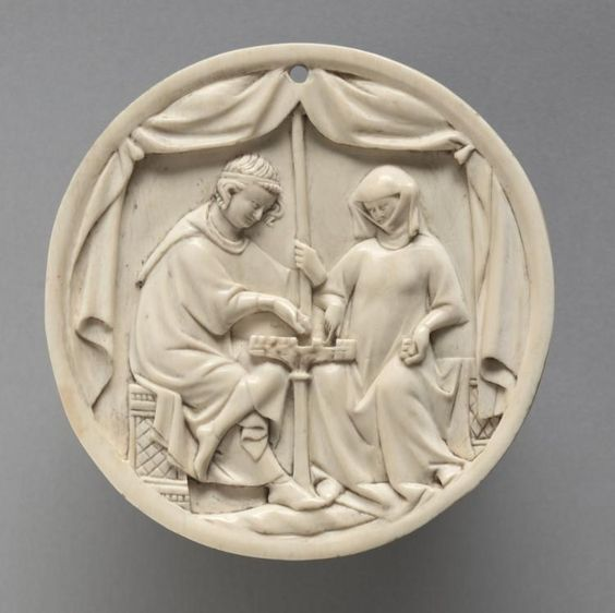 Mirror Case with a Couple Playing Chess | Cleveland Museum of Art, 1325-50