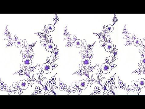 Youtube How To Draw Floral Design For Hand Embroidery Designs Patterns Embr Hand Embroidery Design Patterns Hand Embroidery Flowers Embroidery Flowers Pattern