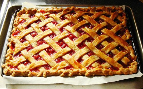 Sour Cherry Slab Pie: part of my 600 square inches of pie made in one ...