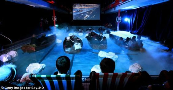 That Sinking Feeling Audience Are Treated To Titanic Experience As Movie Is Screened In A Swimming Pool Titanic Titanic Movie Real Titanic