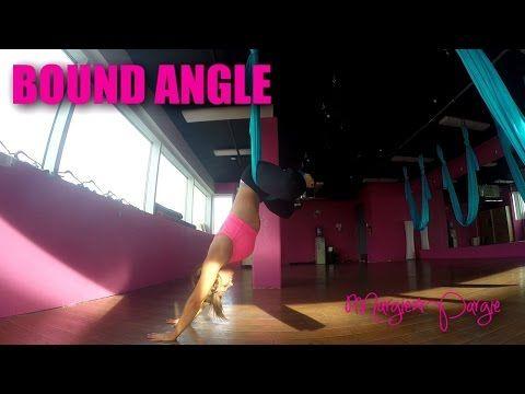 Bound Angle Aerial Yoga Tutorial