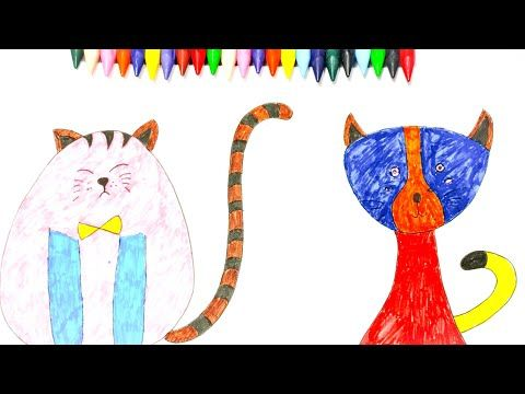 How To Color Cute Cat Animal Coloring Pages Youtube Videos For Kids Animal Coloring Pages Youtube Videos For Kids Kids Tv