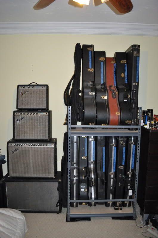 DIY Shelving For Storing Guitar Cases.   Guitar Stuff   Pinterest   Diy  Shelving, Guitar Case And Guitars