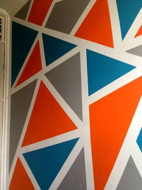 20 Artistic Geometric Wall Art For Home Interior Geometric Wall Art Wall Paint Designs Wall Painting