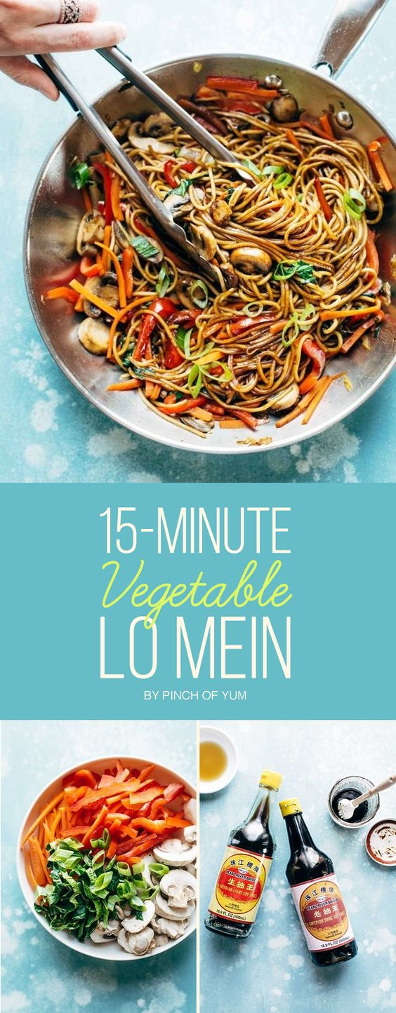 15-Minute Vegetable Lo Mein | Here's What You Should Make For Dinner This Week
