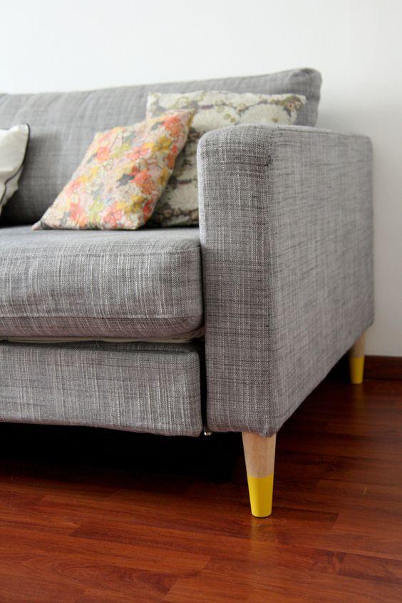 diy by foley tuto pieds de canapé IKEA