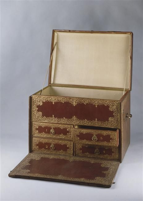 Small chest bearing the arms of Marie Antoinette as Dauphine: