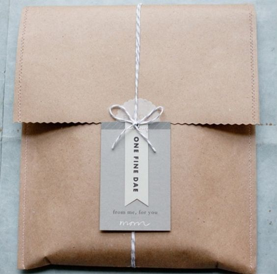 DIY Gift Packages ideas - have your business card or a cute message with small store logo branding below so customers can walk out with a wrapped present and your walking advertisement =)