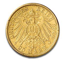 Freie Hansestadt Hamburg, 20 Mark, 7.16g Gold, 1875-1913 | goldankauf-haeger.de
