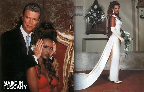 David Bowie And Iman Abdulmajid, June 6th, 1992, Wedding