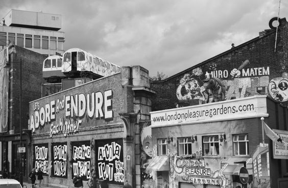 London pleasure gardens, and the Tube on the roof