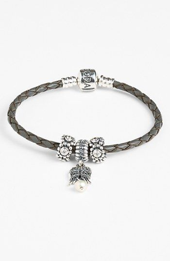 Black Leather Pandora Bracelet