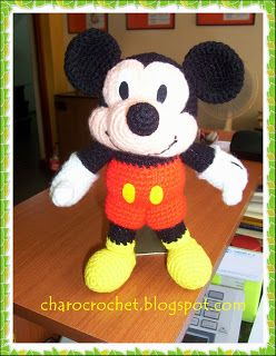 Free Crochet Patterns For Baby Mickey Mouse : Crocheted Mickey Mouse - free crochet pattern - FREE ...