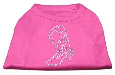 Rhinestone Boot Shirts Bright Pink XS (8)