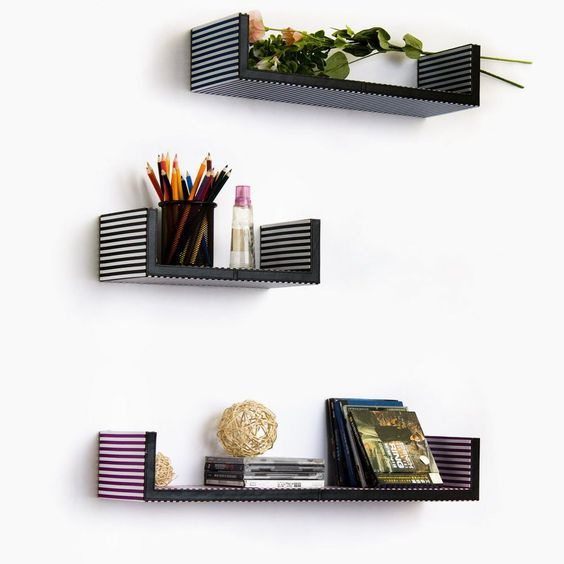 Bracket Wall Shelf Tricolor