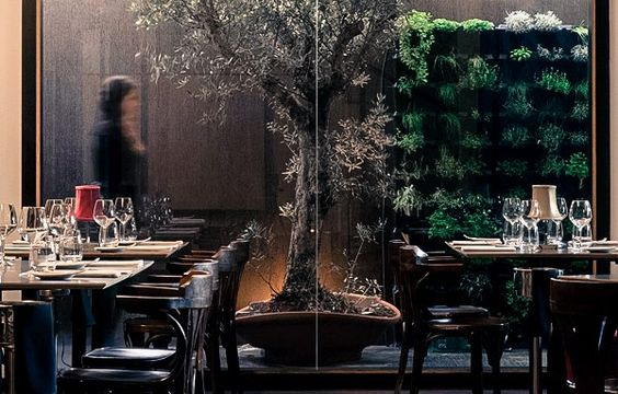 Muro de Minigarden Vertical en restaurante en Lisboa.