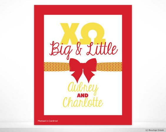 ChiO Chi Omega Big and Little Sister Bow Custom by BoutiqueGreek