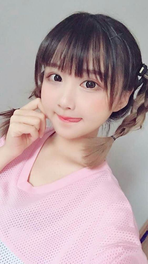 cute pigtails girl