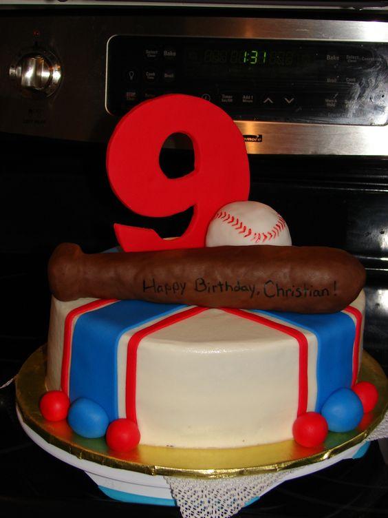 Baseball Birthday Cake baseball themed birthday cake for a