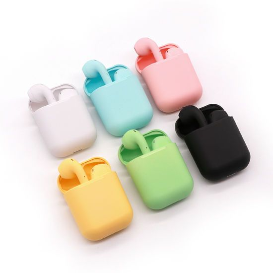 Hot Item Macaron Inpods I12 Touch Control Wireless Bluetooth Headset In 2021 Bluetooth Headset Bluetooth Headphones Wireless Wireless Bluetooth