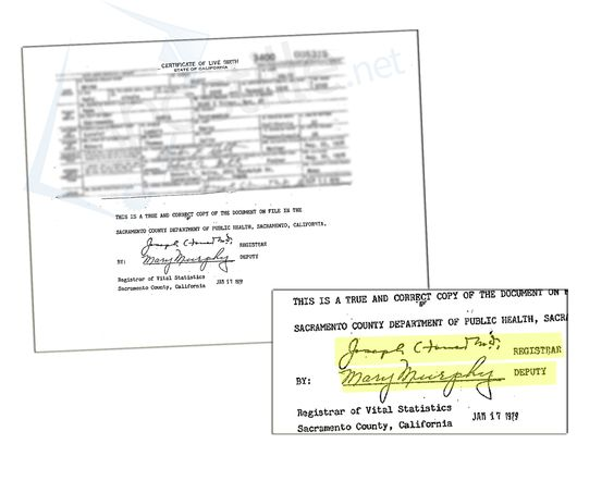 County of San Mateo Certificate of Birth signed by Mark Church - copy fresno california birth certificates
