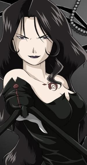 Lust (Fullmetal Alchemist) ... if i can't go as mustang for halloween i'm so going as lust!
