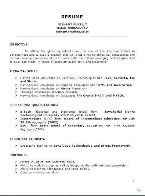 Technical Skills On A Resume Bio Data Format Pdf Free Download Sample Template Excellent .
