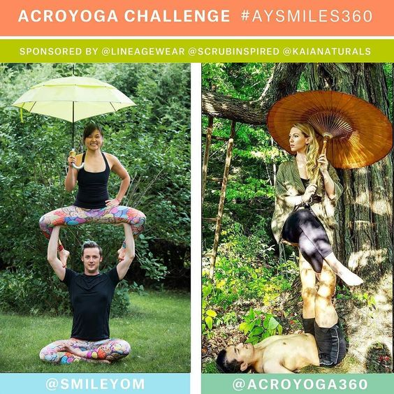 Dreary weather getting you down? Cheer up - Our #AYSmiles360 challenge begins tomorrow!! Thanks to all those folks who have signed up already. For those who haven't look below for more information. Happy acroing!! :D  The#AYSmiles360Challenge is starting on March 1st 2016!  The challenge will be 5 days.  Grab a friend to be your partner for this challenge. There will be three winners. The categories are:  Most Creative Beginner Advanced  Each winning team will receive: One pair…