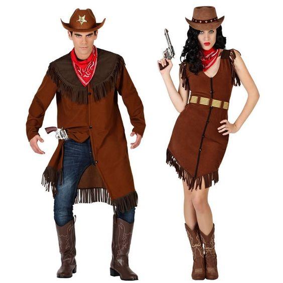 Pareja disfraces de vaqueros sheriff parejas disfraces - Difraces para carnaval ...