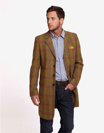 Duke Long Tweed Coat Joules | Country Gent Inspiration | Pinterest