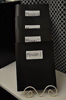 Annual Pack Campout??? Spy/CSI (Cub Scout Investigators) - mission folders