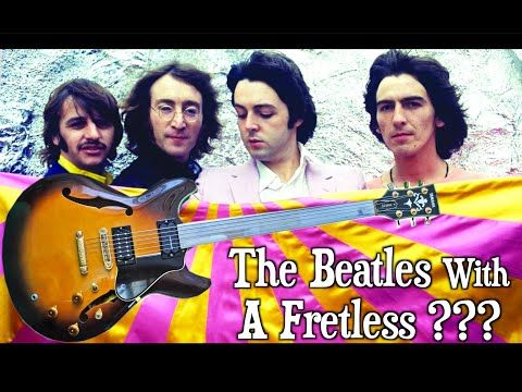 Did The Beatles Use A Fretless Guitar In 1968 Youtube The Beatles Guitar John Lennon