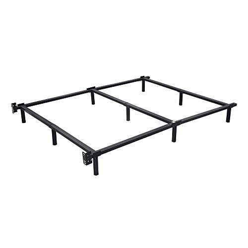 Thaweesuk Shop Black Full Size Heavy Duty Black Folding Steel Bed
