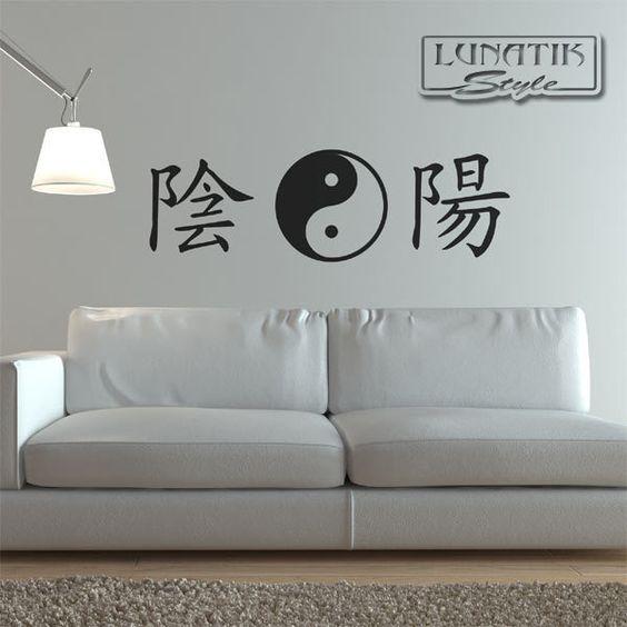 Wandtattoo Kanji Schriftzeichen Yin Yang - WD31   Products and Yin ...