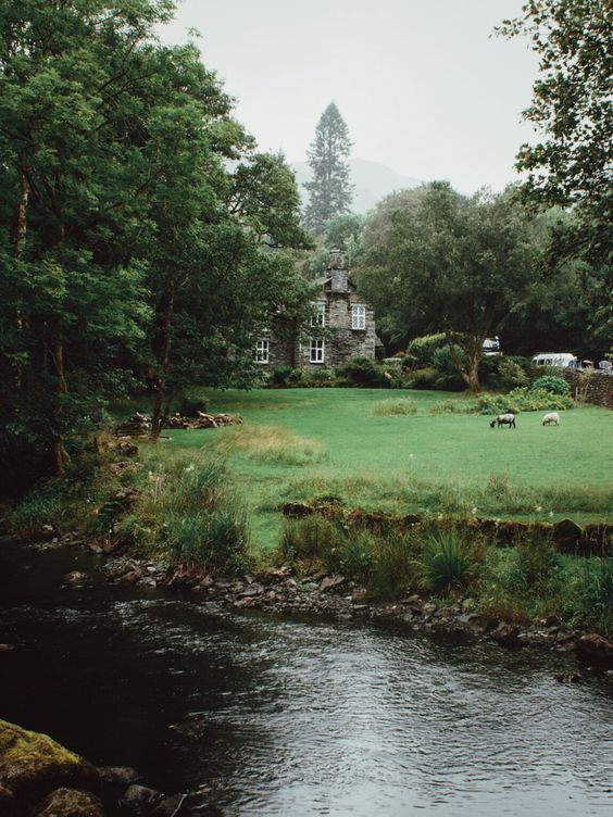 Lake district cottages on tumblr, but, oh, it's my dream house, really.