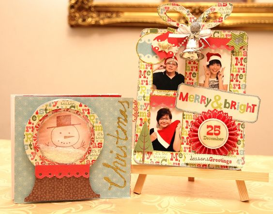 Read more @ http://www.thescrapperinme.blogspot.com !  Had lots of fun working on this photo album and I have created a folder for it and made it into a photo frame as well!    I used the entire collection of MME 12 days of Christmas collection!