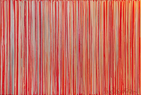 """""""Cayenne"""" by Claire Desjardins - 60""""x40"""" - Acrylics on canvas. 2010. Private collection."""