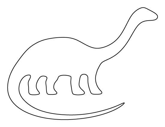Simple Brontosaurus Outline Pattern Use The Printable