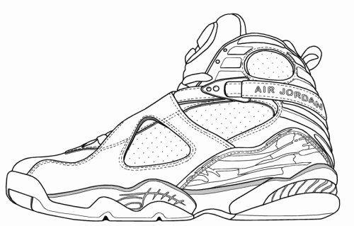 Jordan Shoe Coloring Book Fresh Jordans 8 Shoes Color Pages Air Jordans Coloring Books Jordans