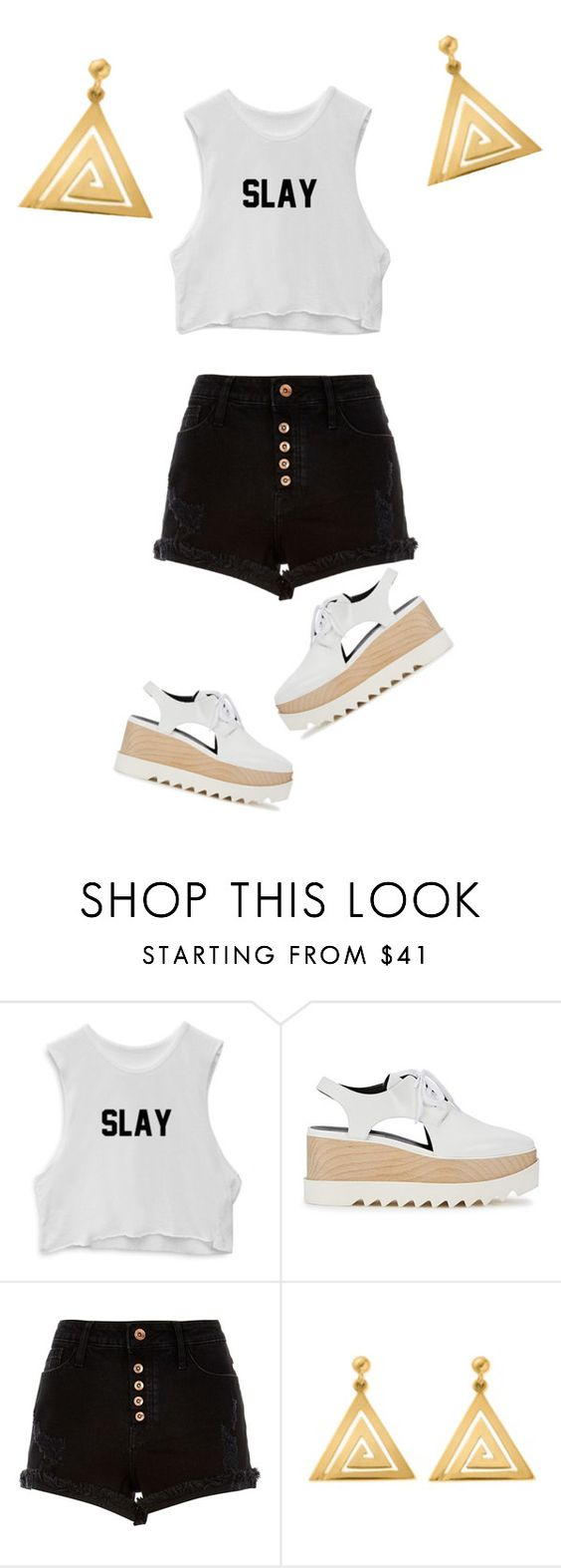 """""""slay"""" by summerun on Polyvore featuring beauty, STELLA McCARTNEY, River Island and ChloBo"""