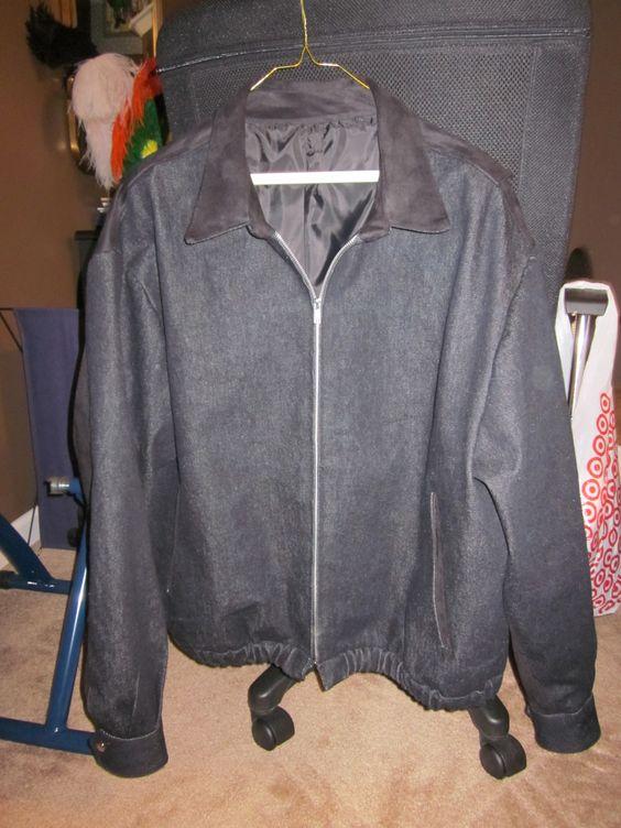 Buck's jacket - Black Suede with Black Denim.