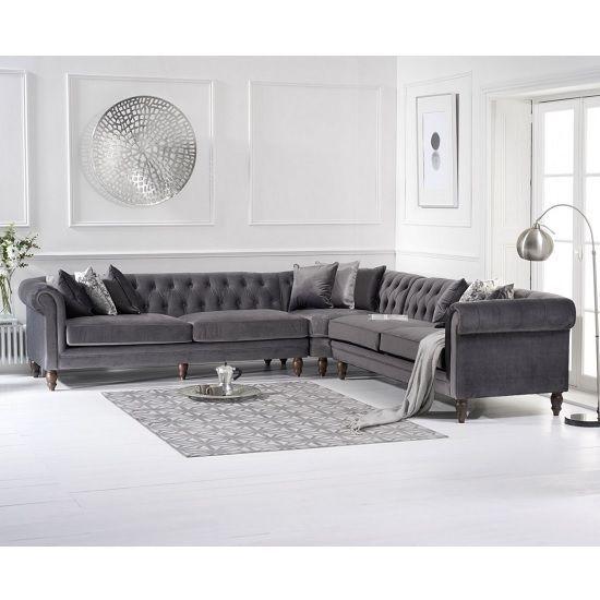 Candela Modern Fabric Corner Sofa In Grey Velvet In 2020 Corner Sofa Design Corner Sofa Living Room Living Room Sofa Design