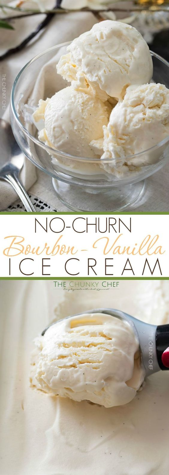 Bourbon Vanilla No Churn Ice Cream | This rich and creamy no churn ice cream is…