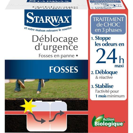 Traitement Urgence Fosse Bloquee Starwax 0 6 Kg Droguerie Ecologique Fosse Traitement