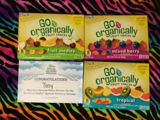 Winner in the Go Organically Fruit Snacks Special Delivery Sweepstakes #freestuff #freebies #samples #free