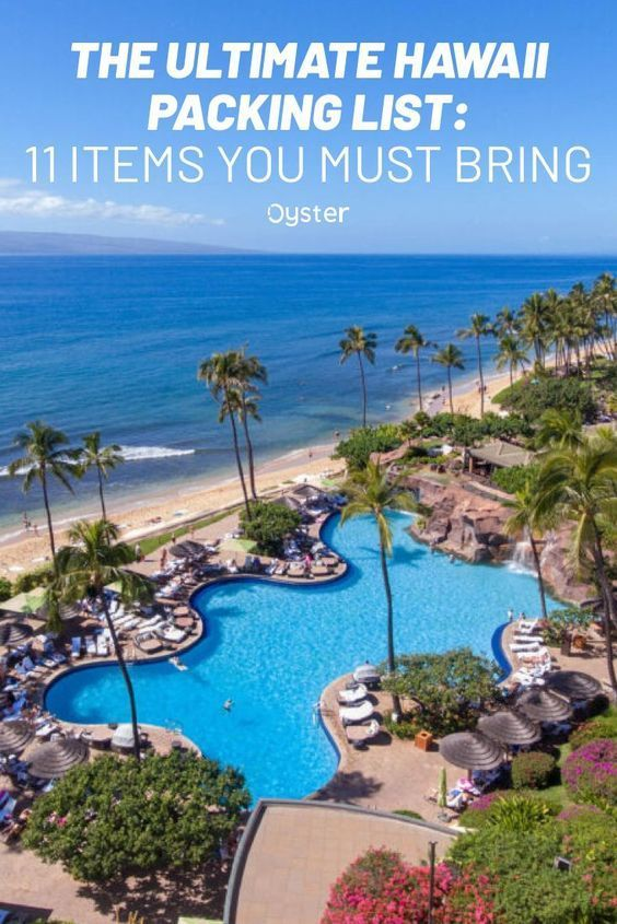 Hawaii S Consistent Climate Makes It A Relatively Easy Destination To Pack For However The State S Distinct M In 2020 Hawaii Packing Hawaii Packing List Maui Resorts