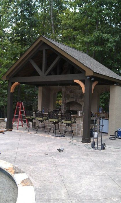 outdoor kitchen outside kitchen pinterest the. Black Bedroom Furniture Sets. Home Design Ideas