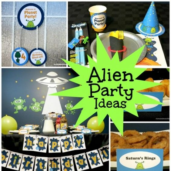 Alien birthday party ideas to be aliens and birthdays for Alien decoration