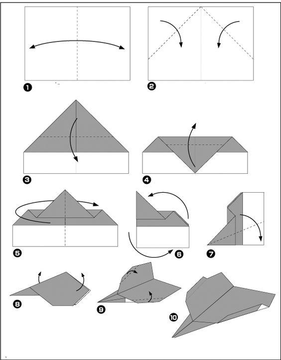 avion de chasse facile origami pinterest recherche et origami. Black Bedroom Furniture Sets. Home Design Ideas