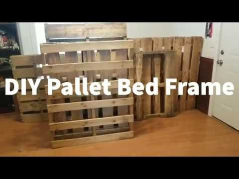 Diy Pallet Bed Frame Queen Size Bed Youtube In 2020